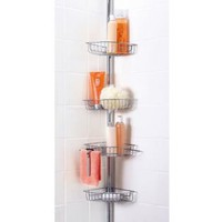 Chrome Plated Tension Pole Shower & Bath Caddy- Essential Home-Bed & Bath-Bath Essentials-Bath Accessories & Collections
