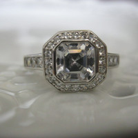 Antique Art Deco Engagement Ring 2 Carat by TheRustyChandelier