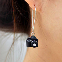 Canon 5D mark II Camera miniature Earrings