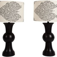One Kings Lane - Marcie Bronkar - Black Ku Lamps, Pair