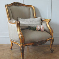 Gold Gilt Emmanuel Chair - Sweetpea & Willow London