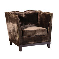 Chamonix Velvet Chocolate Armchair- Sweetpea & Willow London