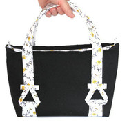 Handmade Handbag Black & White
