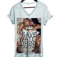 Tee Save water - Dont Tell My Tailor - marque parisienne de tee shirts