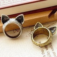 Cute Cat Ears Ring