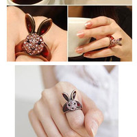 Pink Bunny Fou Fou Ring