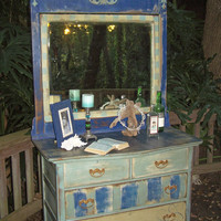 Dresser with MirrorChristmas Sale by junkdrawerdivas on Etsy