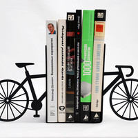 Bookends  My bike  laser cut for precision by DesignAtelierArticle
