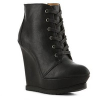 Qupid Parlane-09 Wedge Bootie