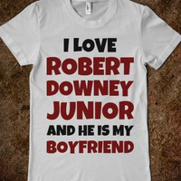 I Love Robert Downey Junior - Text First