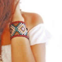 Huichol authentic beaded Bracelet Ethnic Jewelry collection