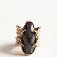 Dark Amulet Leaf Ring - $12.00 : ThreadSence, Women's Indie & Bohemian Clothing, Dresses, & Accessories