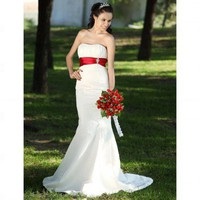 Trumpet / Mermaid Strapless Sleeveless Court Train Satin Wedding Dress - Wedding Dresses 2011 Collection - Wedding Dresses - Wedding  Events