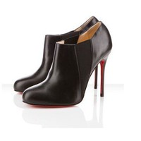 Christian Louboutin Lastoto 100mm Ankle Boots Black [2011121201] - $209.00 : Christian Louboutin Shoes Sale, Enjoy 77% Off On Designer Outlet