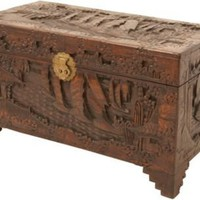 One Kings Lane - Mark Vitulano - Large Carved Storage Trunk