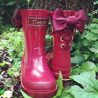 Timber & Tamber Rain Boots Rubber Gumboots Burgundy