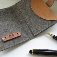 Cool personalized  wallet . Wool Felt- industrial design handmade