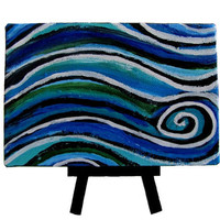The Wave Small Original Abstract Painting by MyDifferentStrokes