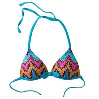 Candie's Zigzag Push-Up Halter Bikini Top