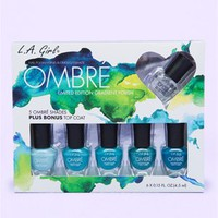 "A'GACI ""Spring Fling"" Ombre 7pc Nail Polish Set - Accessories"