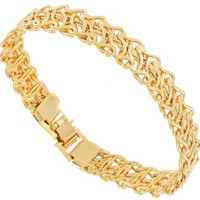 14K Gold Plated Bracelet Wire Link Handcrafted Made In Usa - Like Love Buy