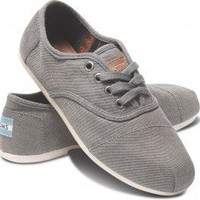 Taupe Waxed Twill Women&#x27;s Cordones | TOMS.com