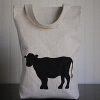 Lunch Bag Country Cow by HarrietsHaven on Etsy