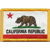 California Tactical Patch - Red & White