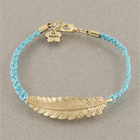 Blue Feather Bracelet