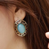 Vintage Elegant Opal Stud Earrings at Online Fashion Jewelry Store Gofavor