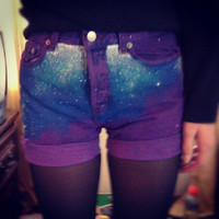 Purple Galaxy Shortsreserved for jayde shaw by eringracem on Etsy
