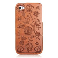 Grace India Totem Wooden Hard Cover Case For Iphone 4/4s