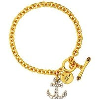 Juicy Couture Pave Anchor Wish Bracelet