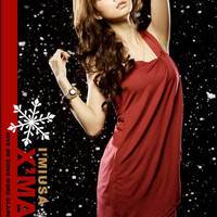 I&#x27;miusa XMAS Angelic Red One Cotton Dress : Yoco-fashion.com