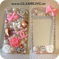Beautiful Bow & Chanel Front & Back iPhone 4/s case