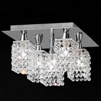 Crystal Ceiling Light with 5 lights - $77.36