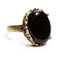 Antique Black Stone Ring