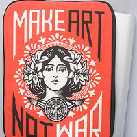 The Make Art Not War 13 Notebook Sleeve : Obey : Karmaloop.com - Global Concrete Culture