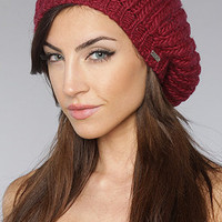 The Ribbed Knit Beret in Bordeaux : deLux : Karmaloop.com - Global Concrete Culture