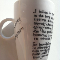 Mug with Audrey Hepburn quotes