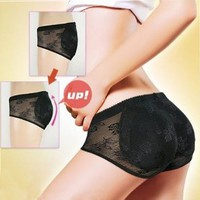 Butt Pads Fake Butt Sponge Buttocks Shaper Panty with Smooth Control Instant Lift and Shape - Black: Beauty