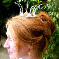 Wire Crown starlight silver/ white or Snow queen by WirePrincess