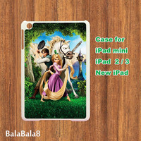 Tangled -- iPad Mini case , iPad 2 case , New iPad case in durable plastic protective black or white