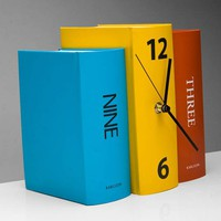Karlsson Colour Book table clock 荷蘭Karlsson 彩色書本形 座枱時鐘