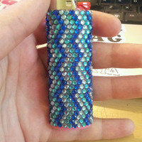 CUSTOM lighter Rhinestones Gems Smoke Pipe Glass Bowl