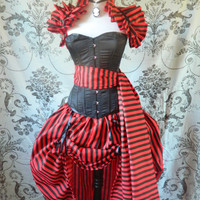 Pirate Corset Outfit-Whole Corset Outfit-MADE FOR BUYER