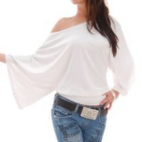 My Associates Store - White Off Shoulder Blouse