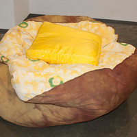 Baked Potato Bean Bag Chair/ Soft Sculpture