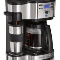 Amazon.com: Hamilton Beach Two Way Brewer Single Serve and 12-cup Coffee Maker: Kitchen & Dining
