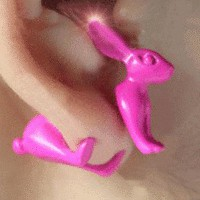 3D Neon Bunny Ear Studs  | LilyFair Jewelry